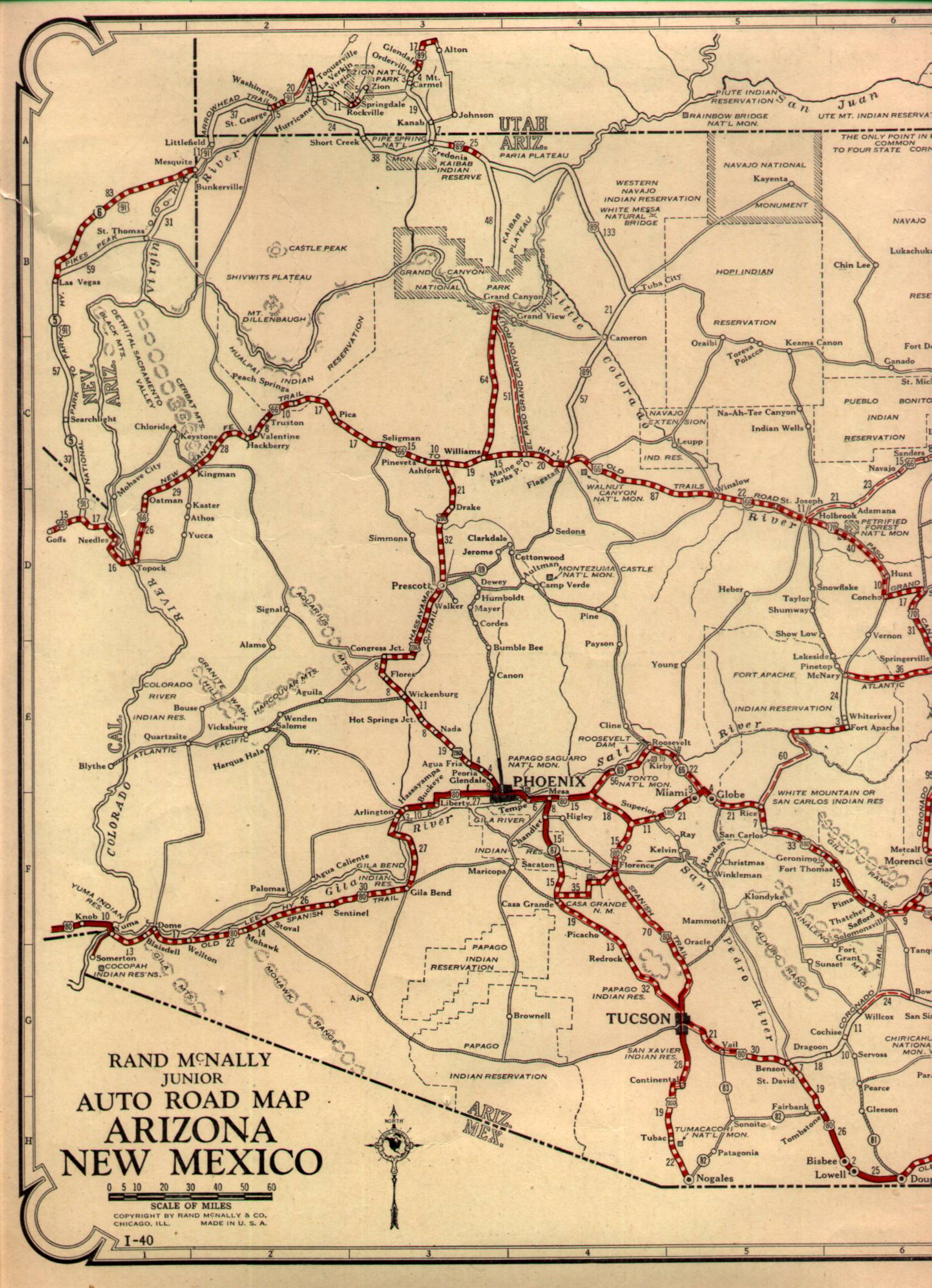 1940s Road Maps Of Pennsylvania Maps Interstate Highway System