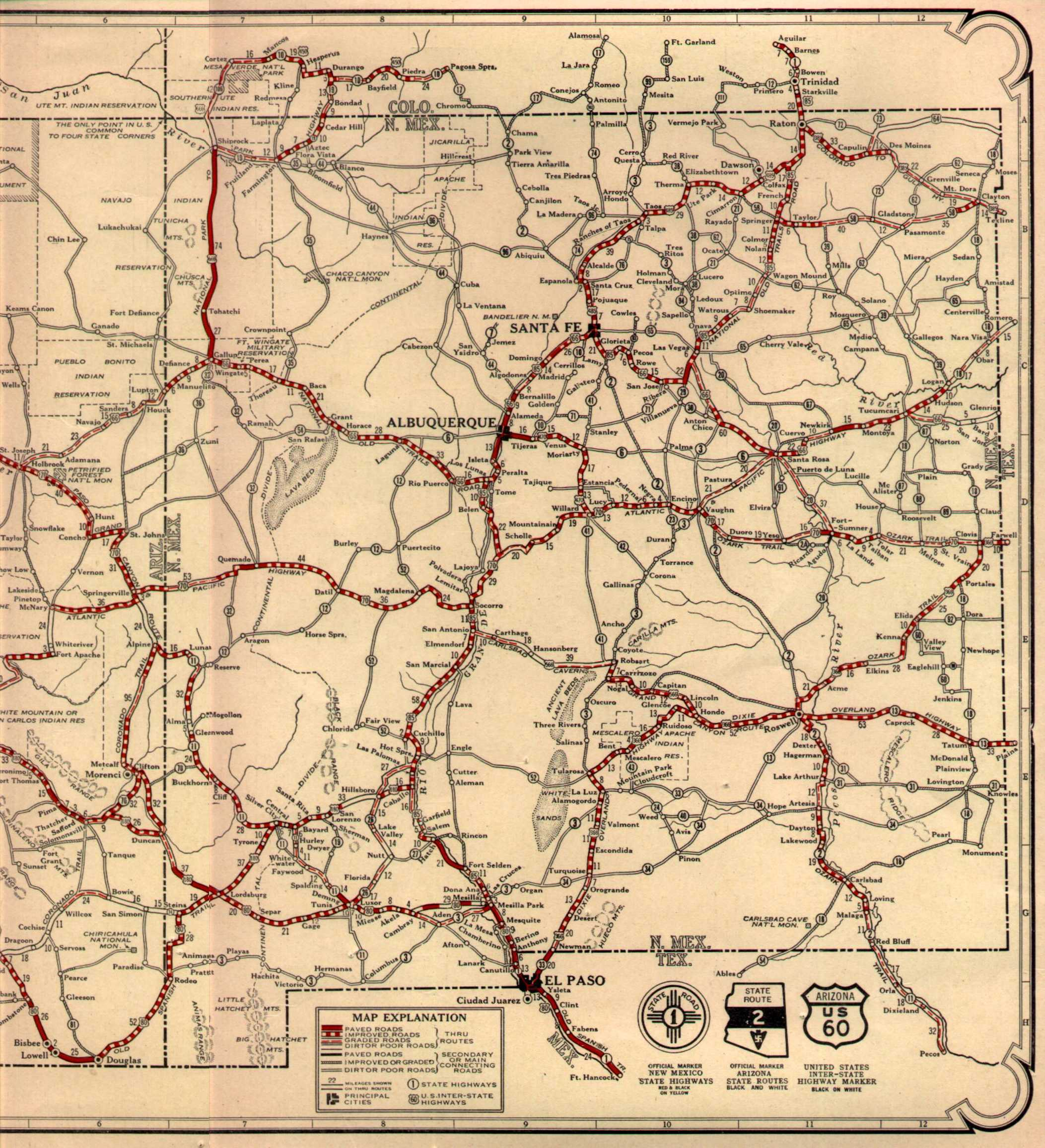 Map Of Arizona I40.Maps