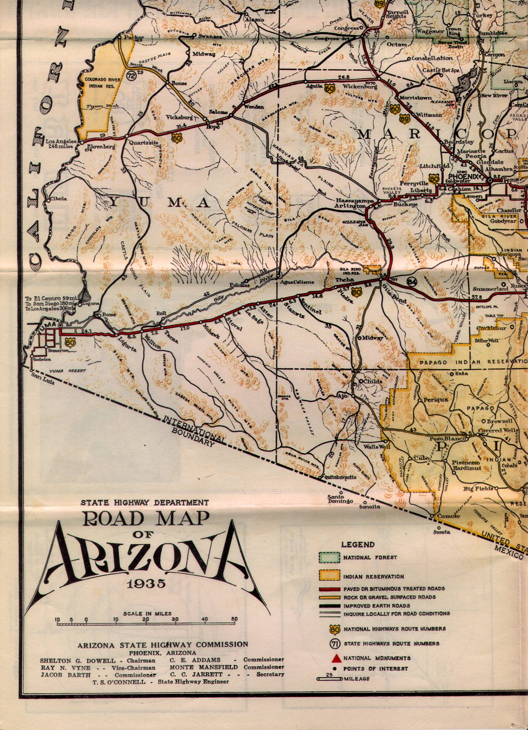 Maps - Road map of arizona