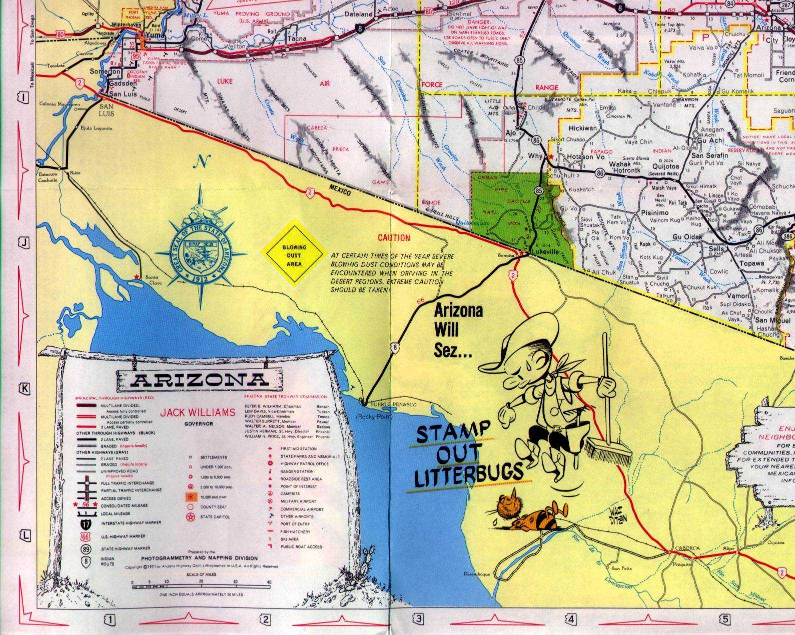 Map Of I 10 Arizona.Maps