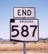 [AZ 587 END sign]