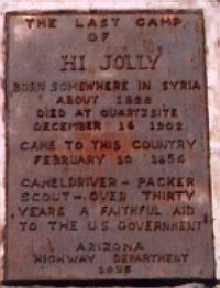 [Hi Jolly plaque]